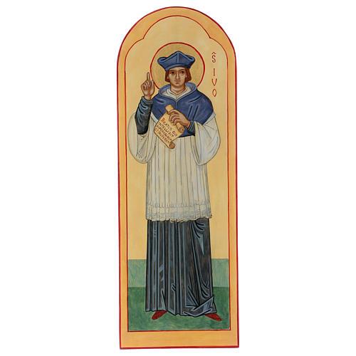 Icona dipinta a mano S. Ivo di Bretagna - Monastero di Montesole  1