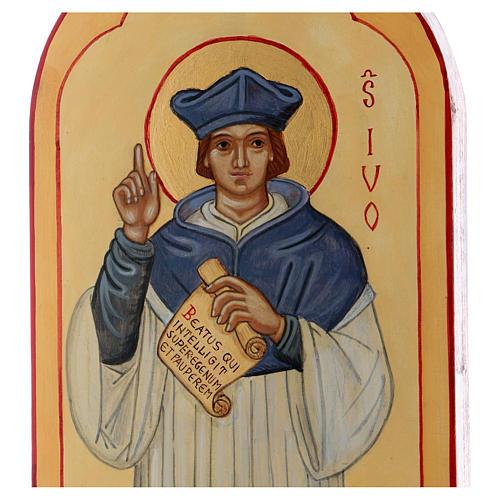 Icona dipinta a mano S. Ivo di Bretagna - Monastero di Montesole  2