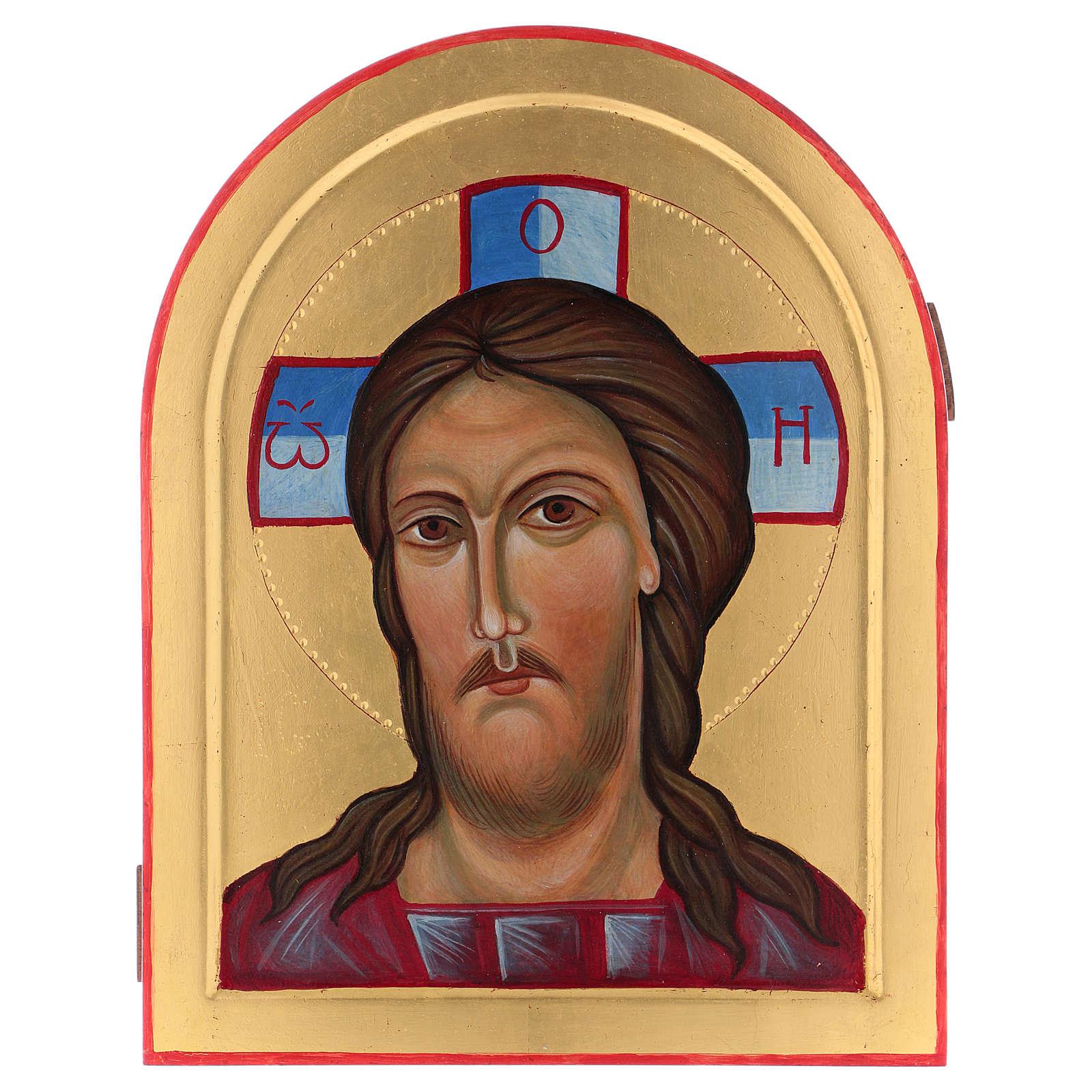 Icona Volto di Cristo dipinta a mano in Italia Monastero Montesole 3