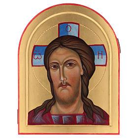 Icona Volto di Cristo dipinta a mano in Italia Monastero Montesole s1
