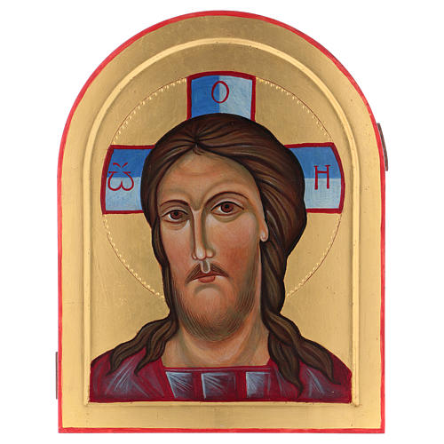 Icona Volto di Cristo dipinta a mano in Italia Monastero Montesole 1