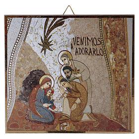 Tableaux, gravures, manuscrit enluminé: Planche imprimée Adoration des Mages Rupnik 10x10 cm
