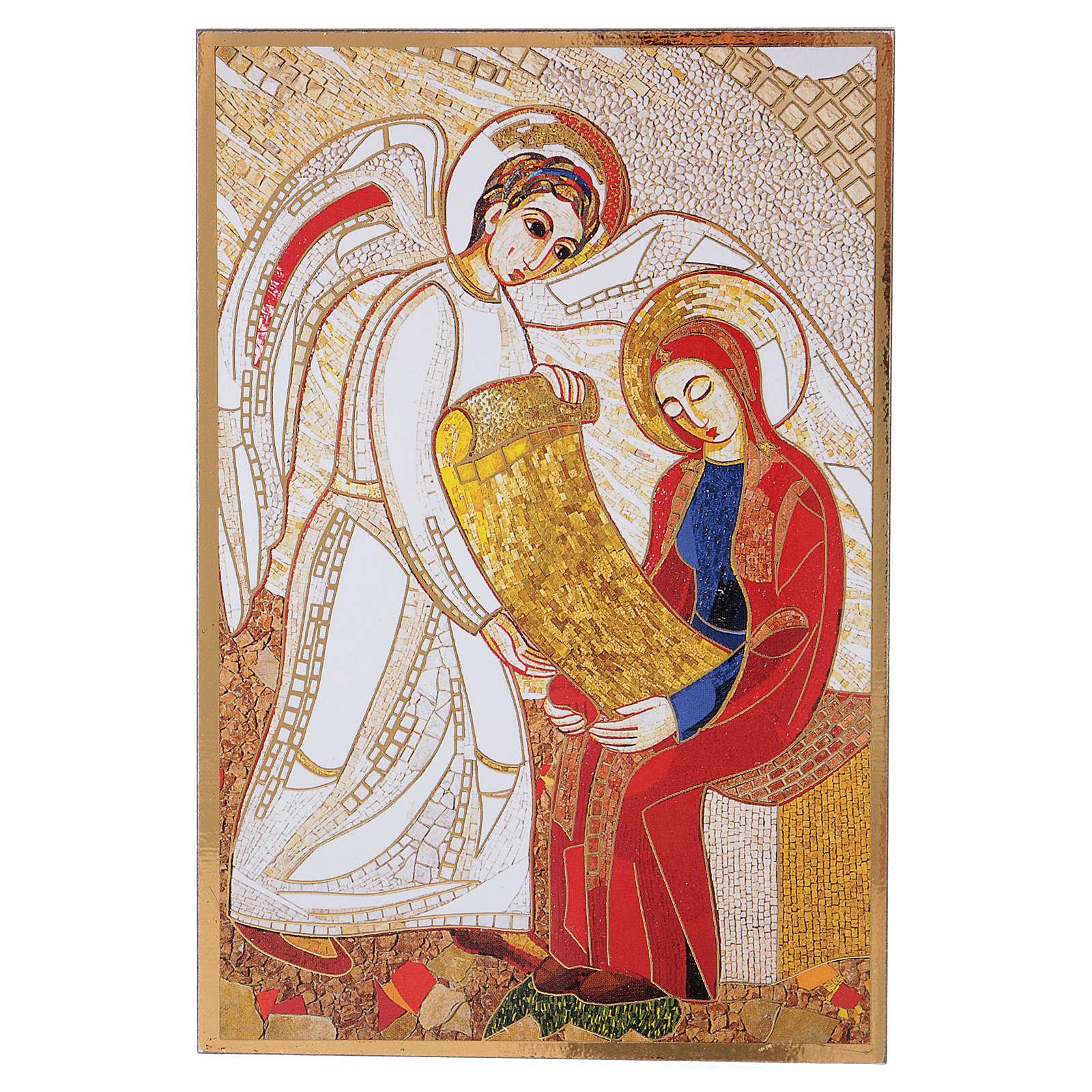 Tavola stampa Rupnik Annunciazione 10x15 cm 3
