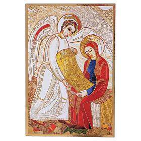 Print on board with Annunciation Rupnik 10x15 cm s1
