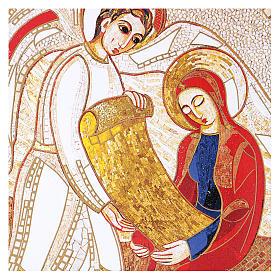 Print on board with Annunciation Rupnik 10x15 cm s2