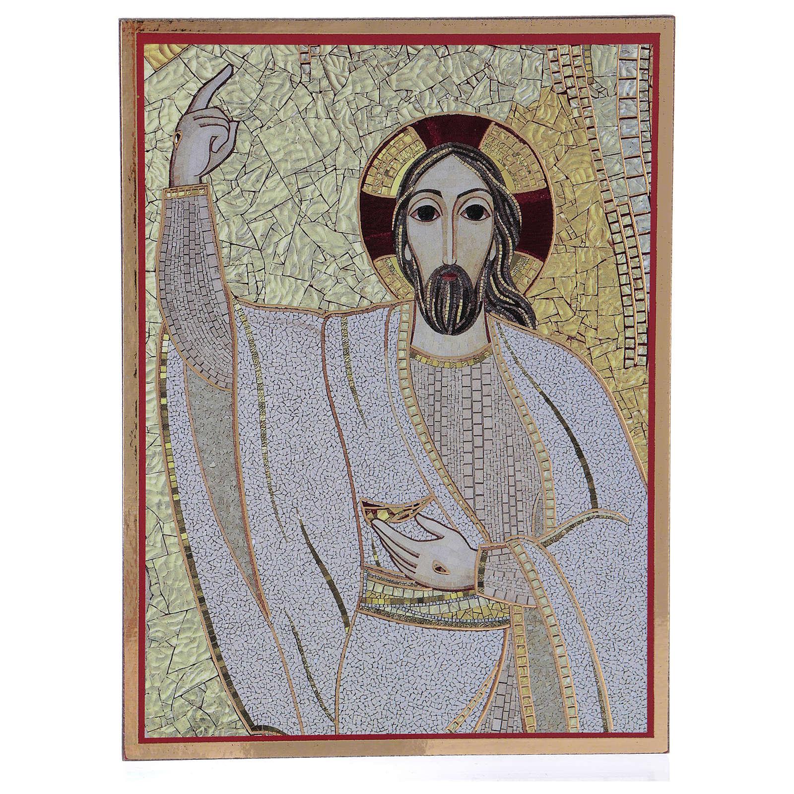 Tavola stampa Rupnik Cristo Risorto 10x15 cm 3