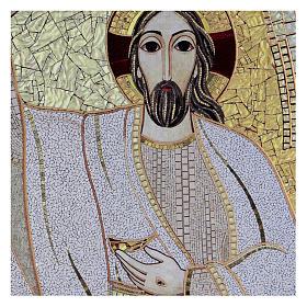 Tavola stampa Rupnik Cristo Risorto 10x15 cm s2
