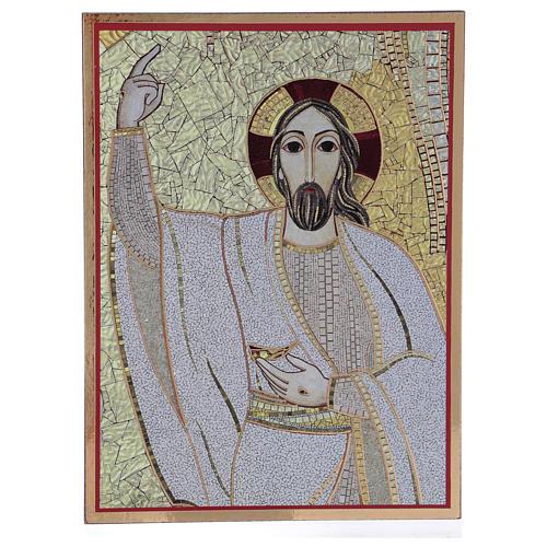 Tavola stampa Rupnik Cristo Risorto 10x15 cm 1