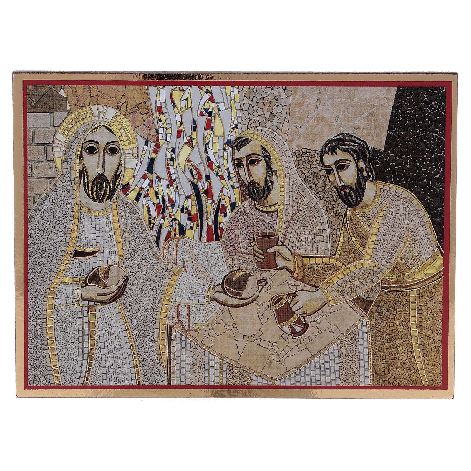 Tavola stampa Rupnik Emmaus 10x15 cm 3