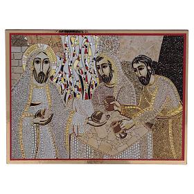 Tavola stampa Rupnik Emmaus 10x15 cm s1