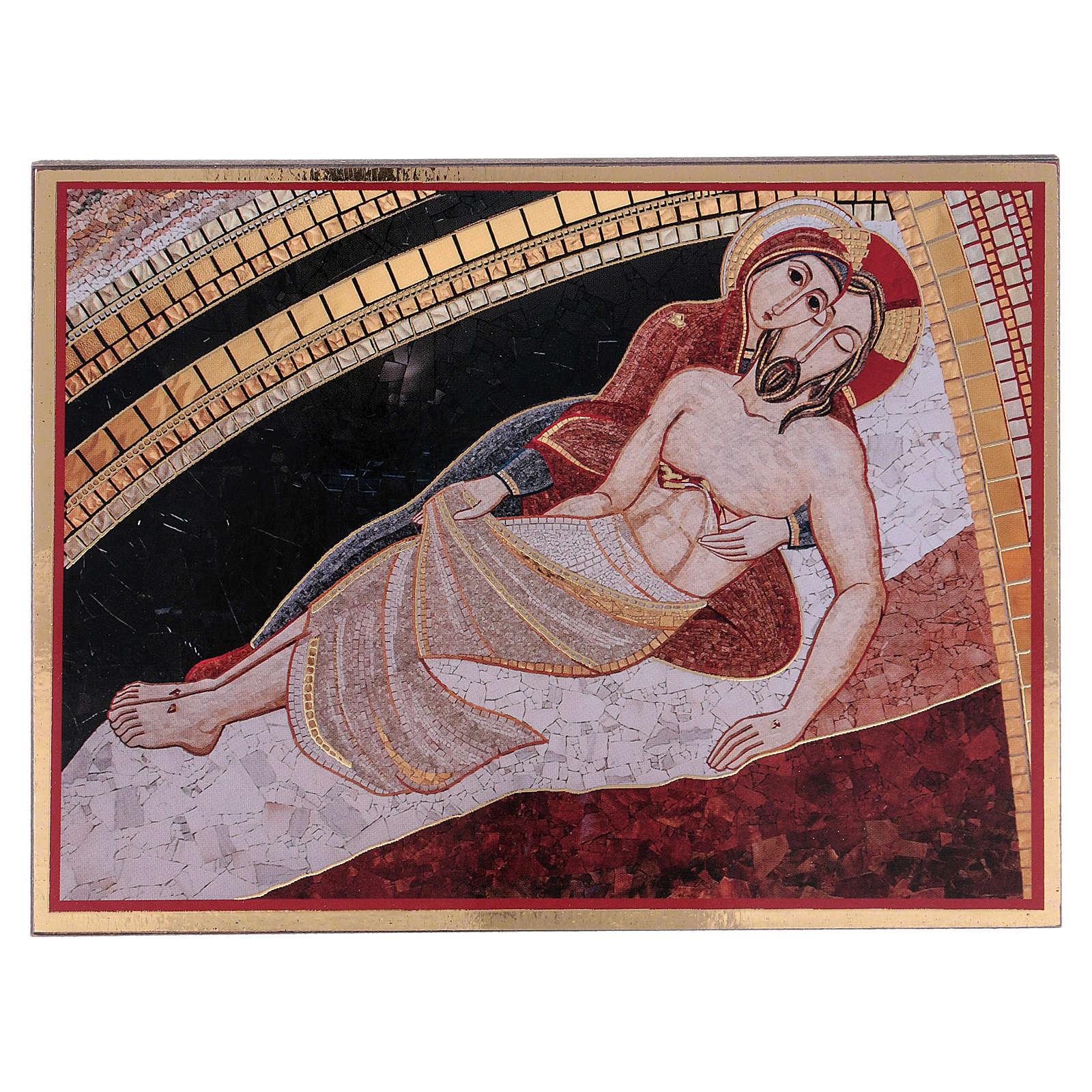 Tavola stampa Rupnik Pietà 10x15 cm 3
