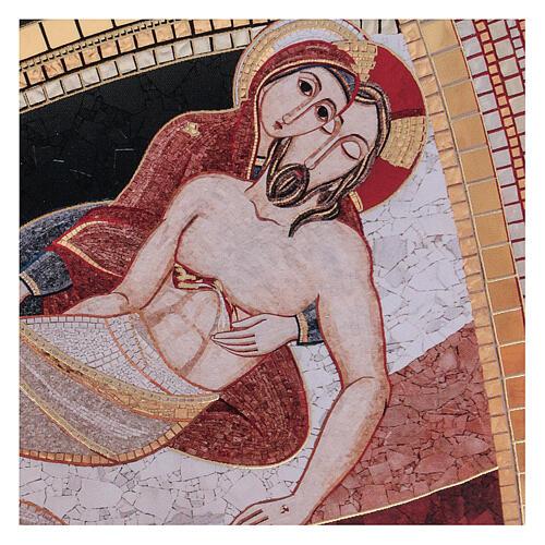 Tábua impressão Rupnik Pietà 10x15 cm