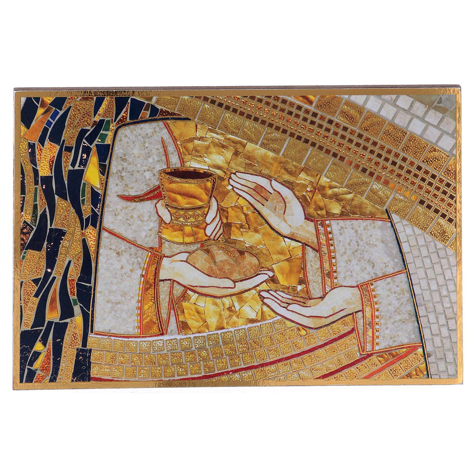 Tavola stampa Rupnik Eucarestia 10x15 cm 3