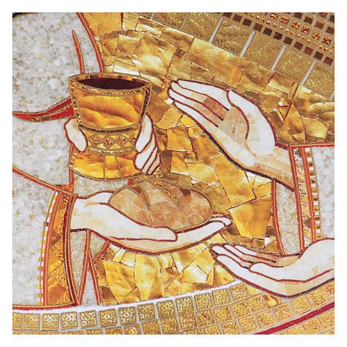 Tavola stampa Rupnik Eucarestia 10x15 cm 2