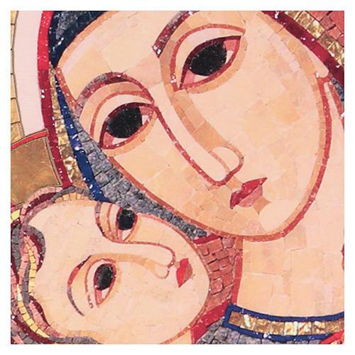 Tavola stampa Rupnik Volto di Maria 10x15 cm 2