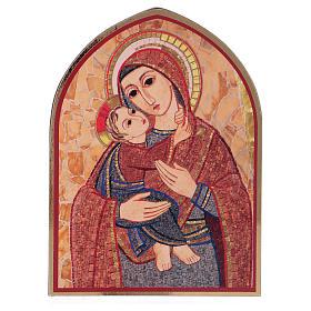 Tavola stampa Rupnik Maria con Bambino 10x15 cm s1