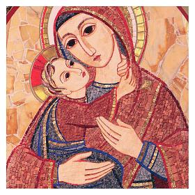 Tavola stampa Rupnik Maria con Bambino 10x15 cm s2