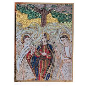 Bild der Heiligen Dreifaltigkeit nach Rupnik, 10x15 cm s1