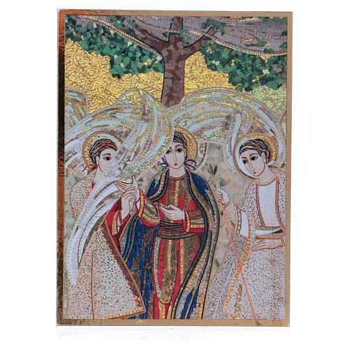 Bild der Heiligen Dreifaltigkeit nach Rupnik, 10x15 cm 1