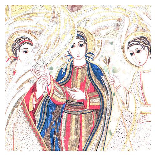 Bild der Heiligen Dreifaltigkeit nach Rupnik, 10x15 cm 2