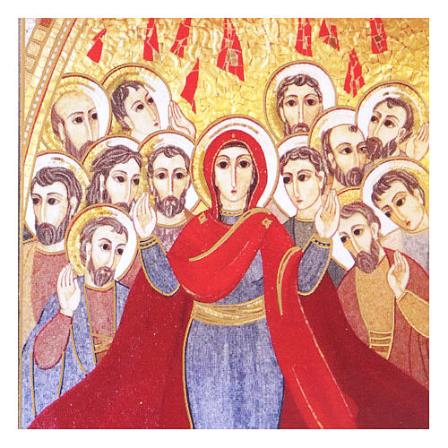 Pentecost picture with mosaic print by Rupnik 5x10 cm 2