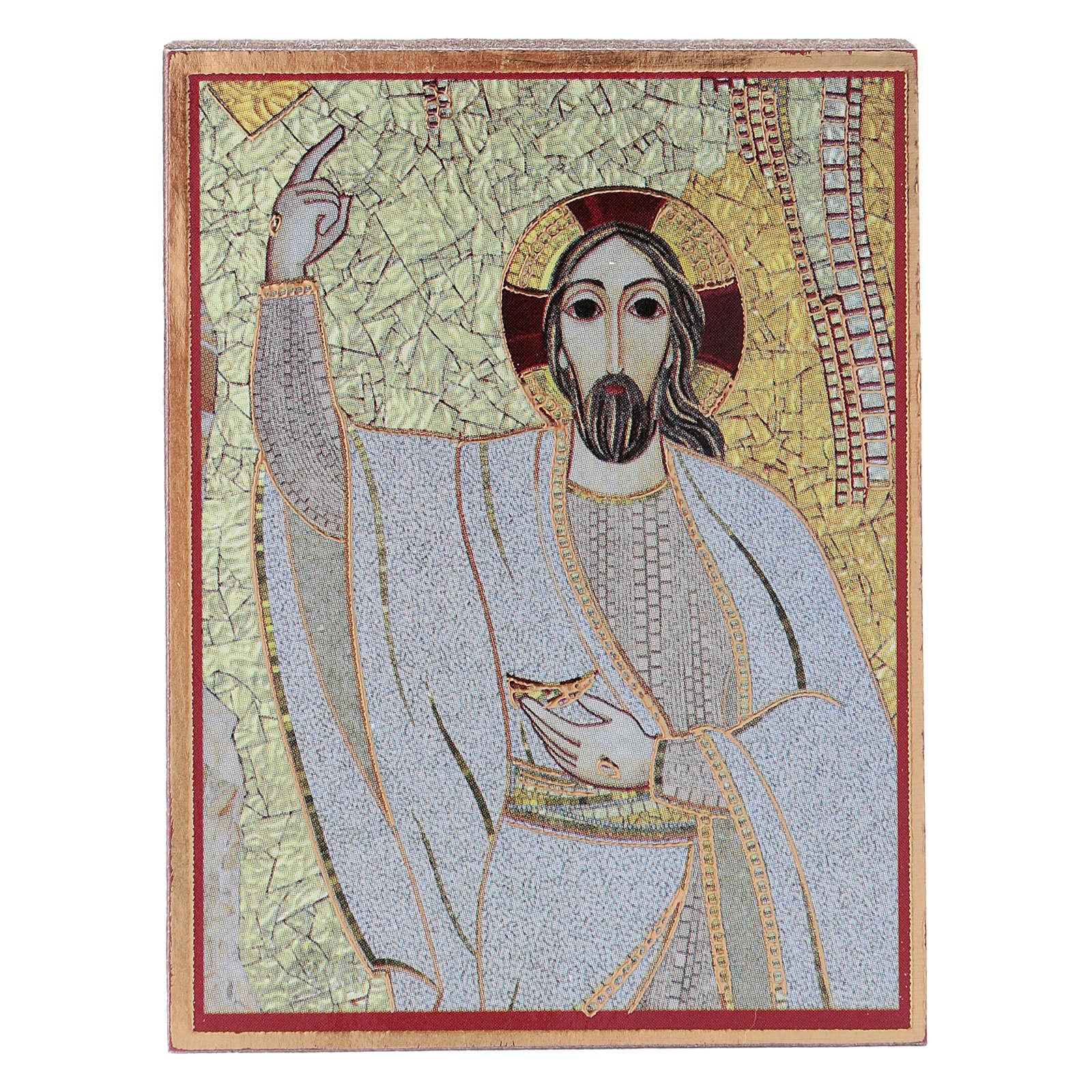 Quadretto Cristo 5x5 cm Rupnik 3