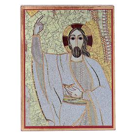 Quadretto Cristo 5x5 cm Rupnik s1