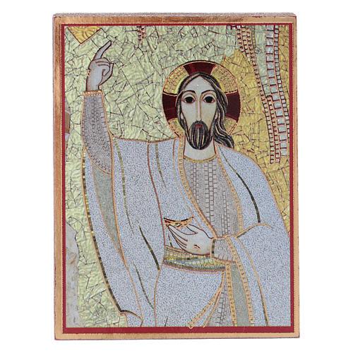 Quadretto Cristo 5x5 cm Rupnik 1
