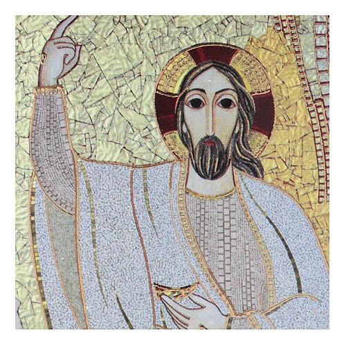 Quadretto Cristo 5x5 cm Rupnik 2