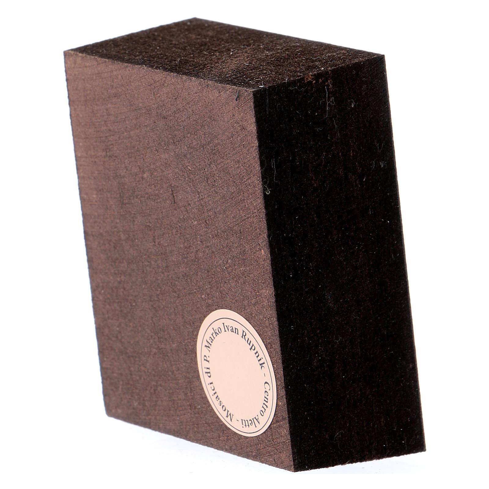 Quadretto Buon Pastore 5x5 cm Rupnik 3