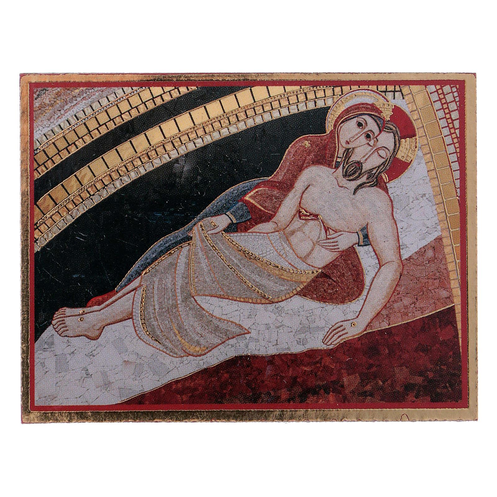 La Pietà di Rupnik quadretto 5x5 cm 3
