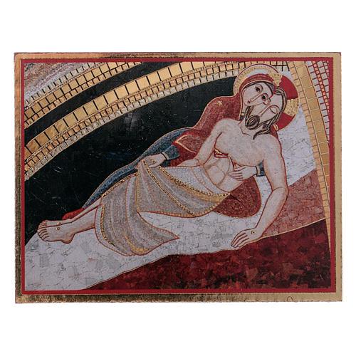La Pietà di Rupnik quadretto 5x5 cm 1