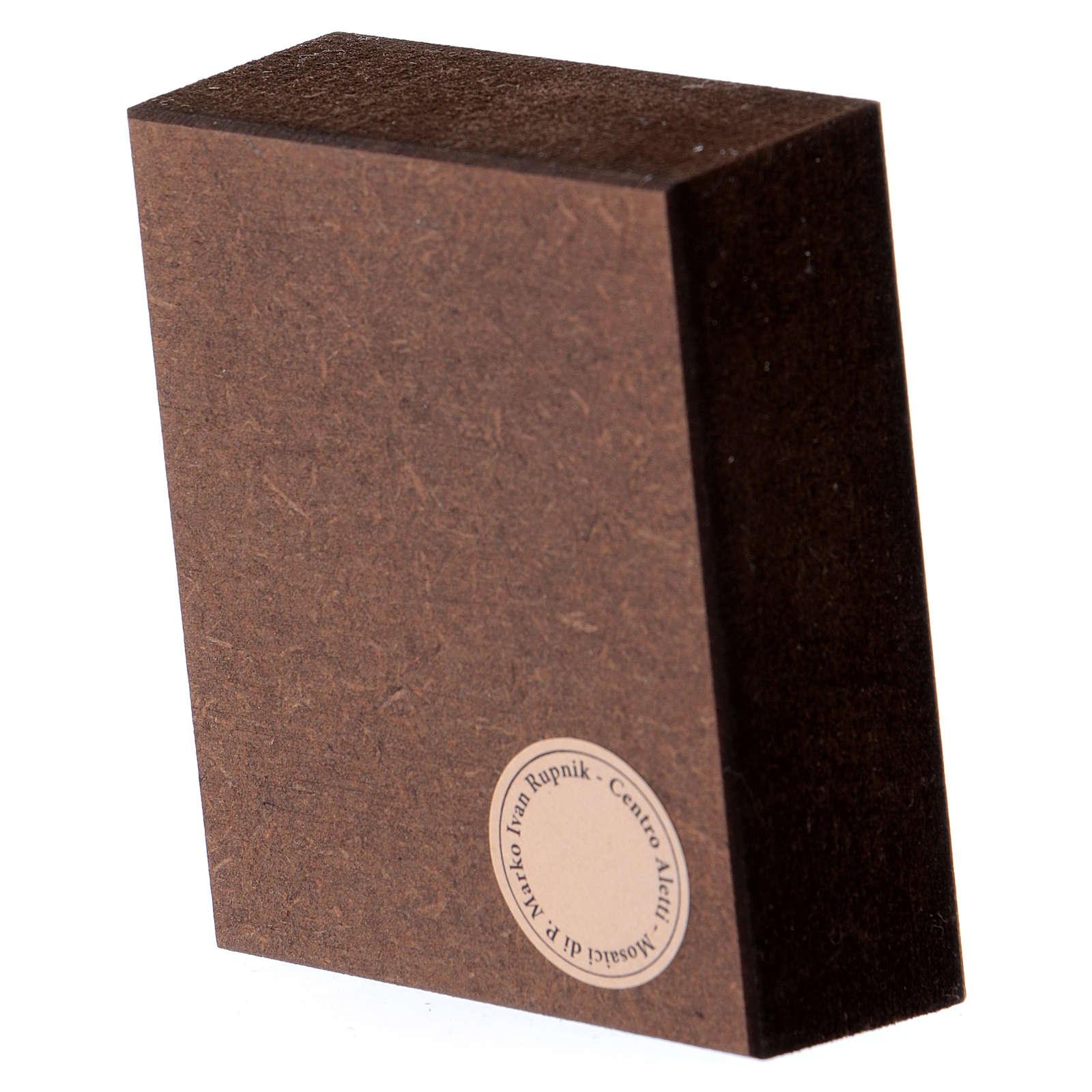 Quadretto da tavolo 5x5 cm Trinità Rupnik 3