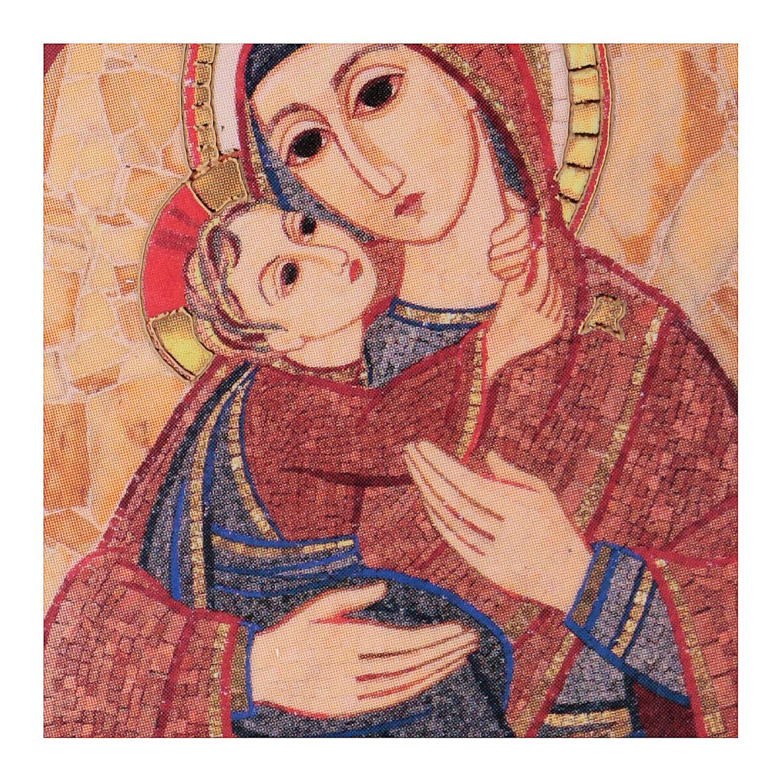 Quadretto Madonna con Bambino 5x5 cm Rupnik 3