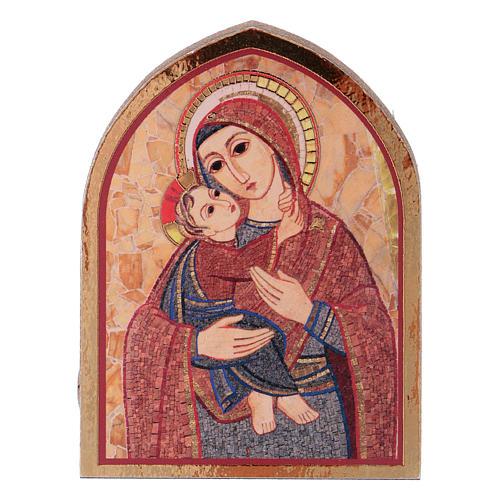 Quadretto Madonna con Bambino 5x5 cm Rupnik 1