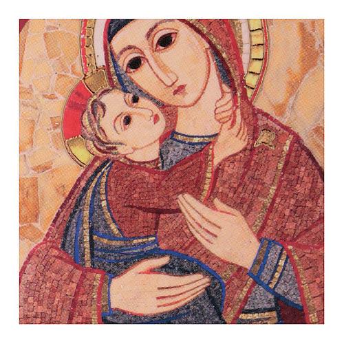Quadretto Madonna con Bambino 5x5 cm Rupnik 2