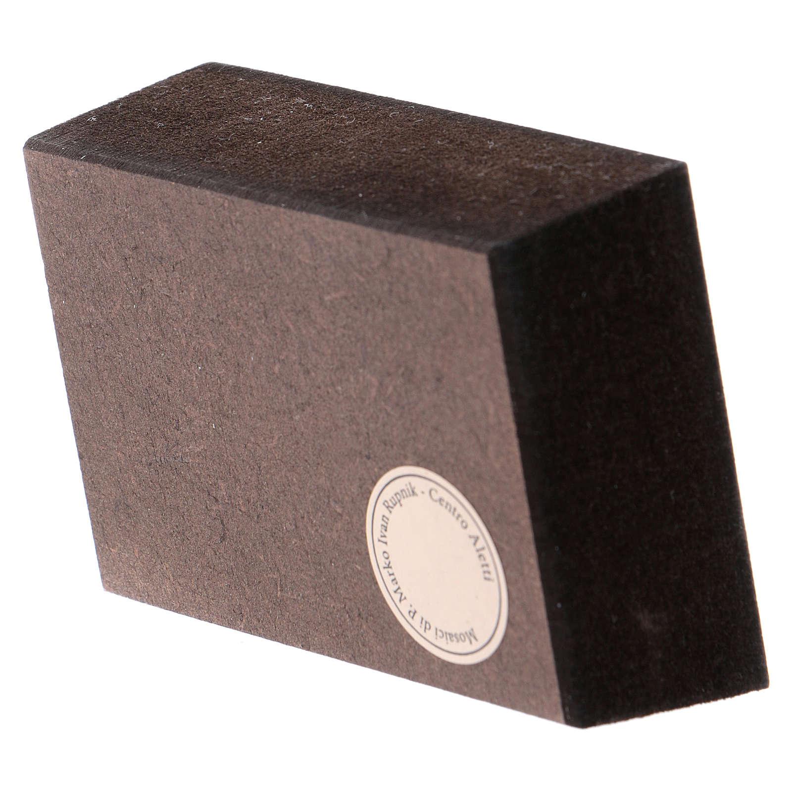 Última Cena de Rupnik Cuadrito de mesa 5x5 cm 3