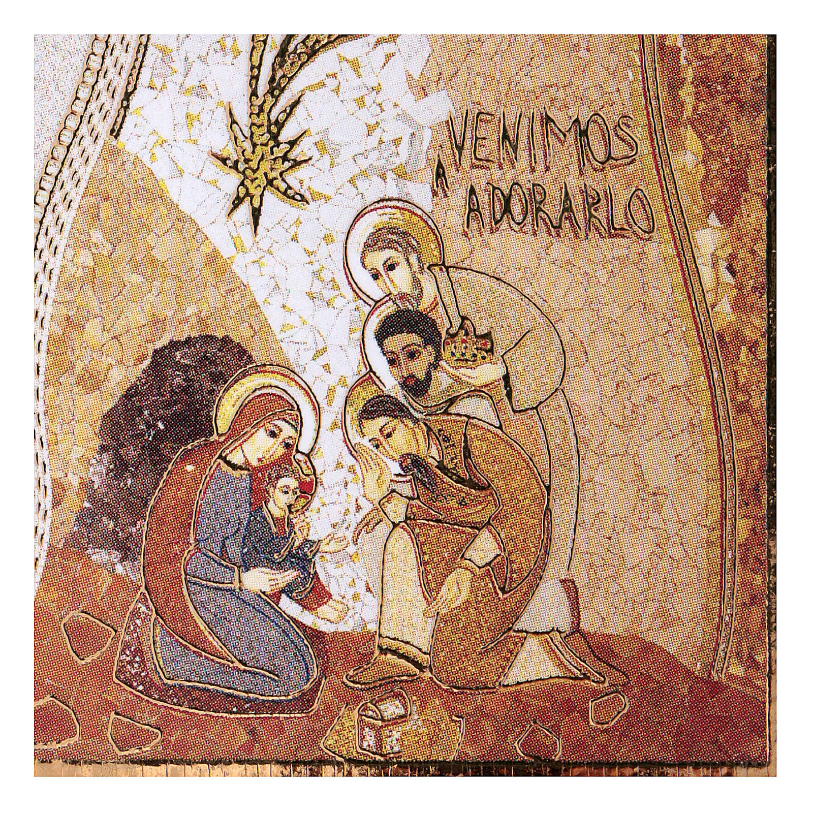 Adoration of the Three Wise Men print by Rupnik 5X5 cm 3