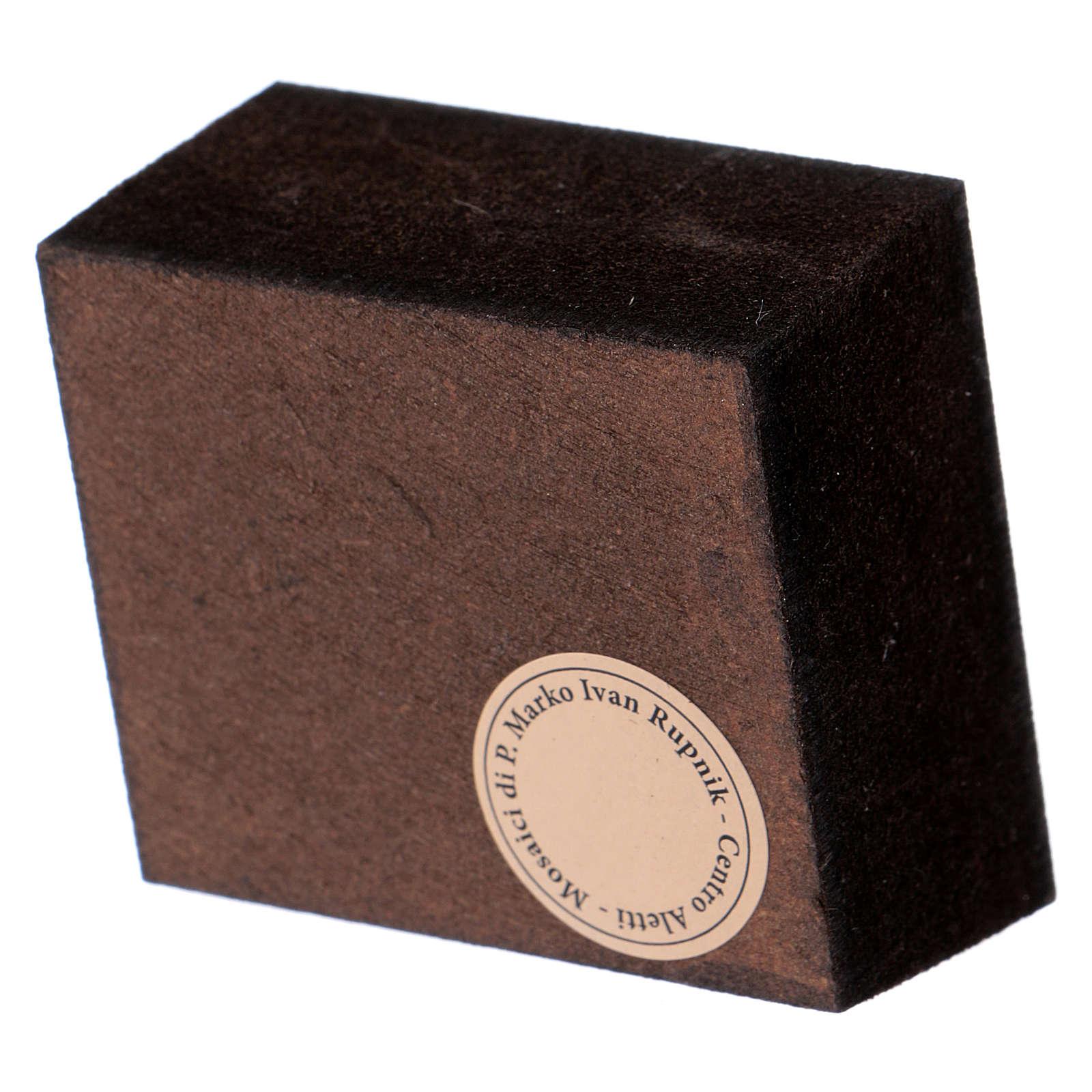 Adoración de los Magos Rupnik impreso 5x5 cm 3