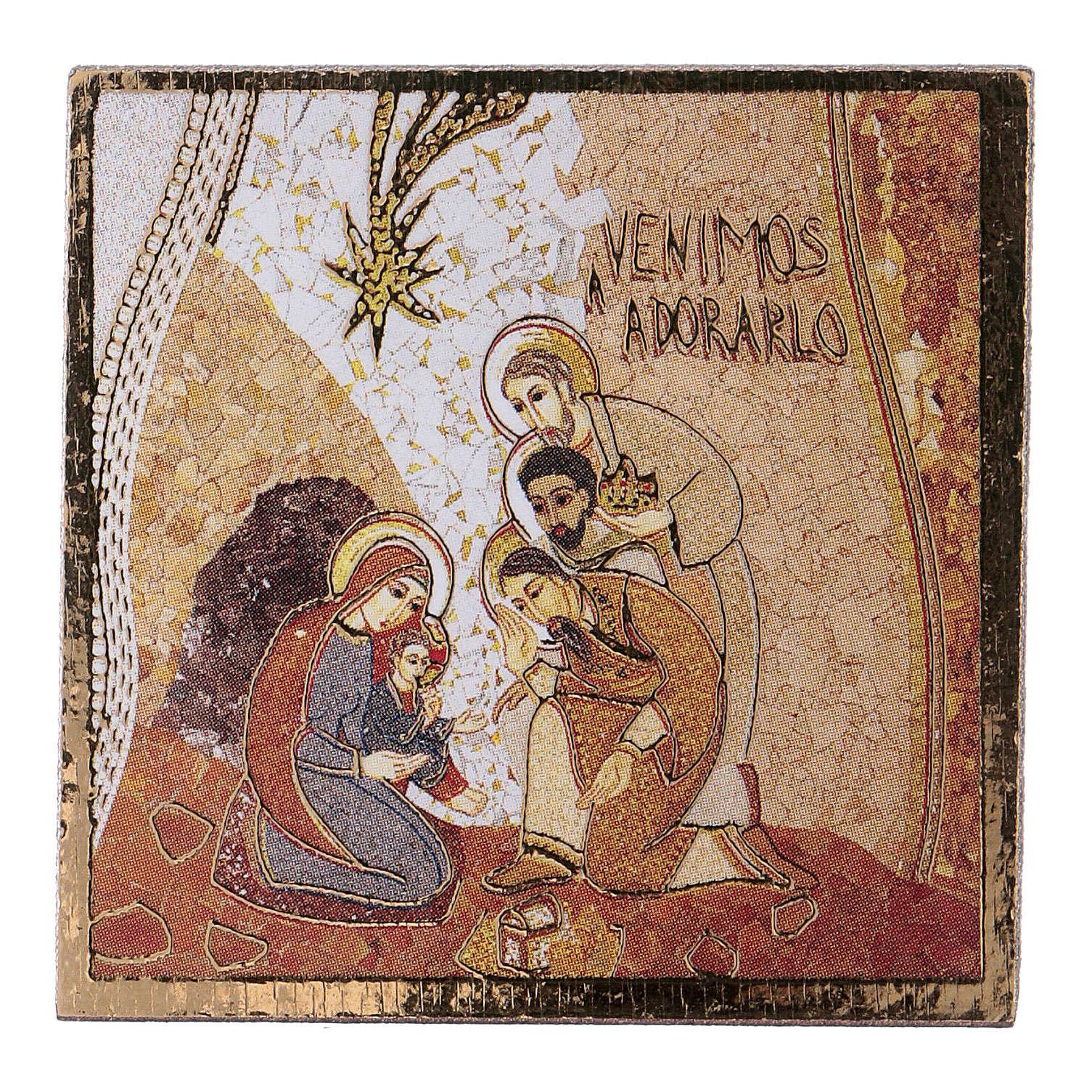 Adoracja Trzech Króli druk 5x5cm 3