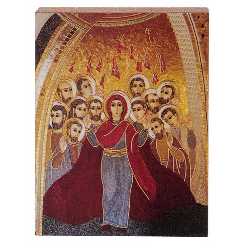 Pentecoste Rupnik stampa 5x5 cm 1