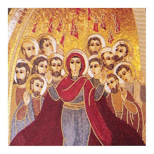 Pentecoste Rupnik stampa 5x5 cm 2