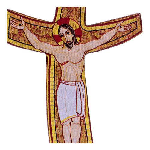 Croce della Misericordia Rupnik 5x5 cm 2