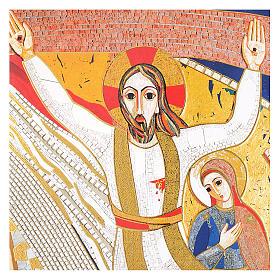Quadro stampa La Crocefissione di Padre Rupnik cm 20x30 s2