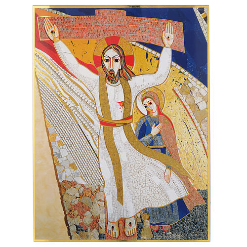 Quadro stampa La Crocefissione di Padre Rupnik cm 20x30 1