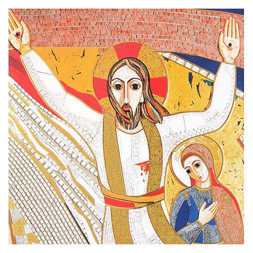 Quadro stampa La Crocefissione di Padre Rupnik cm 20x30 2