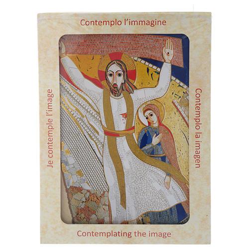Quadro stampa La Crocefissione di Padre Rupnik cm 20x30 5