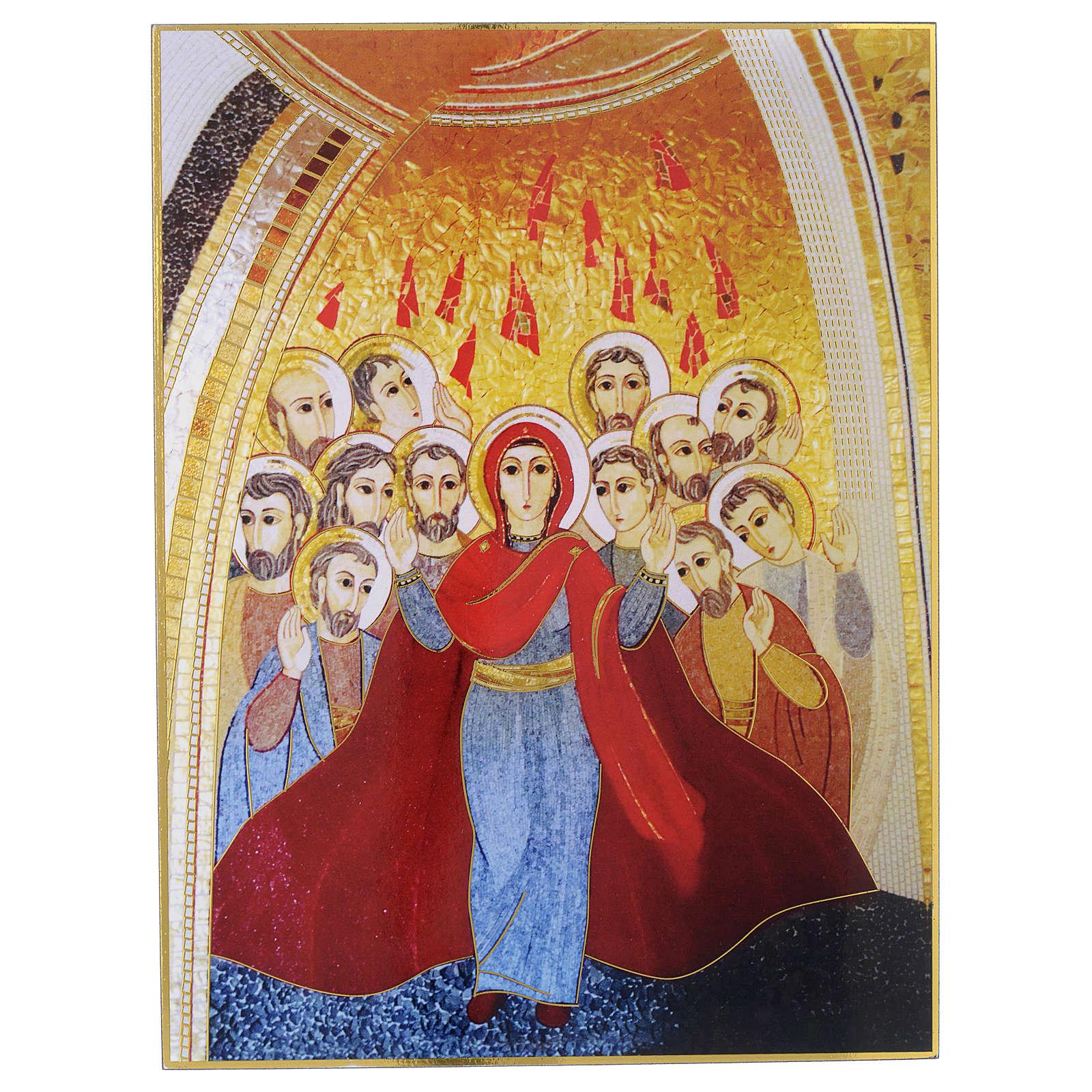 Quadro stampa La Pentecoste di Padre Rupnik 20x30 cm 3