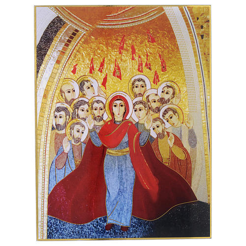 Quadro stampa La Pentecoste di Padre Rupnik 20x30 cm 1