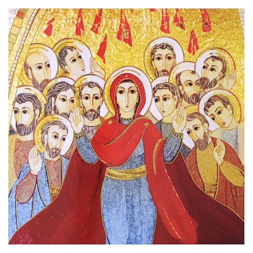Quadro stampa La Pentecoste di Padre Rupnik 20x30 cm 2